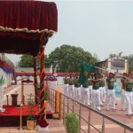 CHIEF GUEST TAKING SALUTE FROM BSF FRONTIER TEAMS