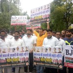 IYC staged a silent protest against the suspension of six Congress MPs from Lok Sabha