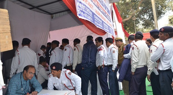 PREVENTIVE HEALTH CHECK UP CAMP FOR DELHI TRAFFIC POLICE PERSONNEL