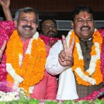 (from left to right)newly elected north delhi mayor & dy. mayor- mr. Adesh gupta & Rajesh kumar respectively (1)