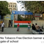 Delhi State Tobacco Control Cell fails to implement it's own initiative of Tobacco Free Election on 12th May 2019.