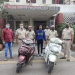 One auto lifter arrested by P S Pahar ganj, Two stolen scooty recovered